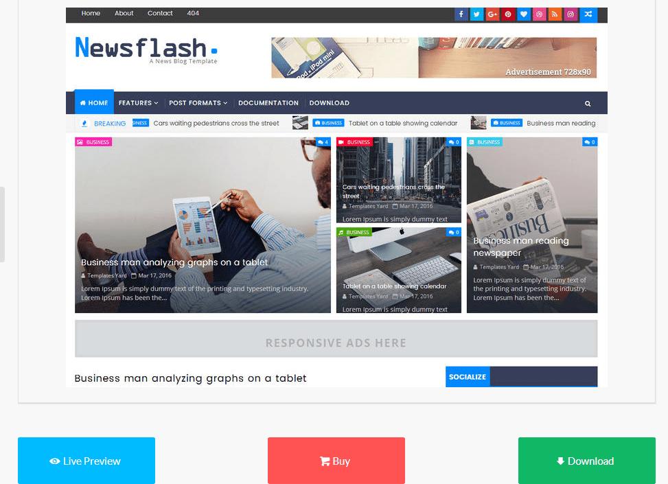 free_blogger_templates_newsflash