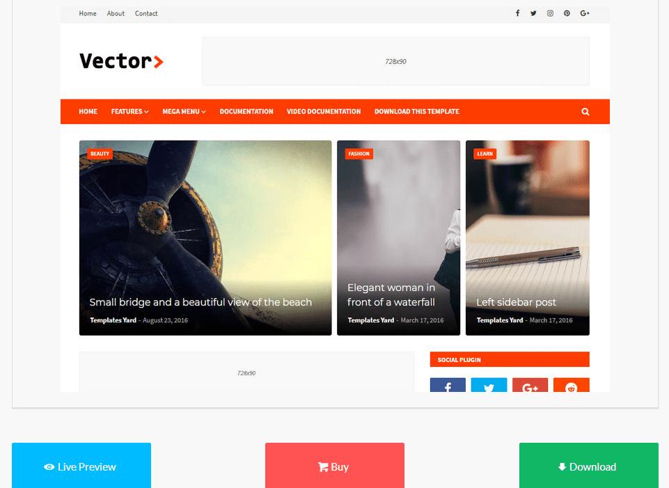 free_blogger_templates_vector