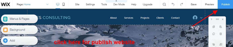 website kaise banye wix publish website