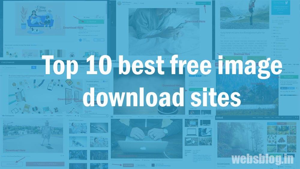 Top 10 best free image download sites